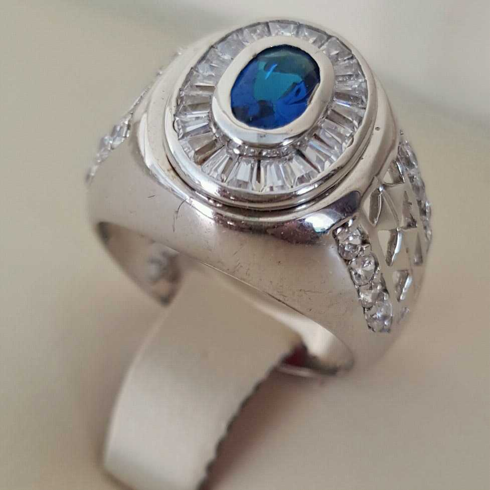 Pure Silver 925 Men Rings Italian Rings Imported From Dubai 12 natural gemstones pakistan + 925 silver jewelry online