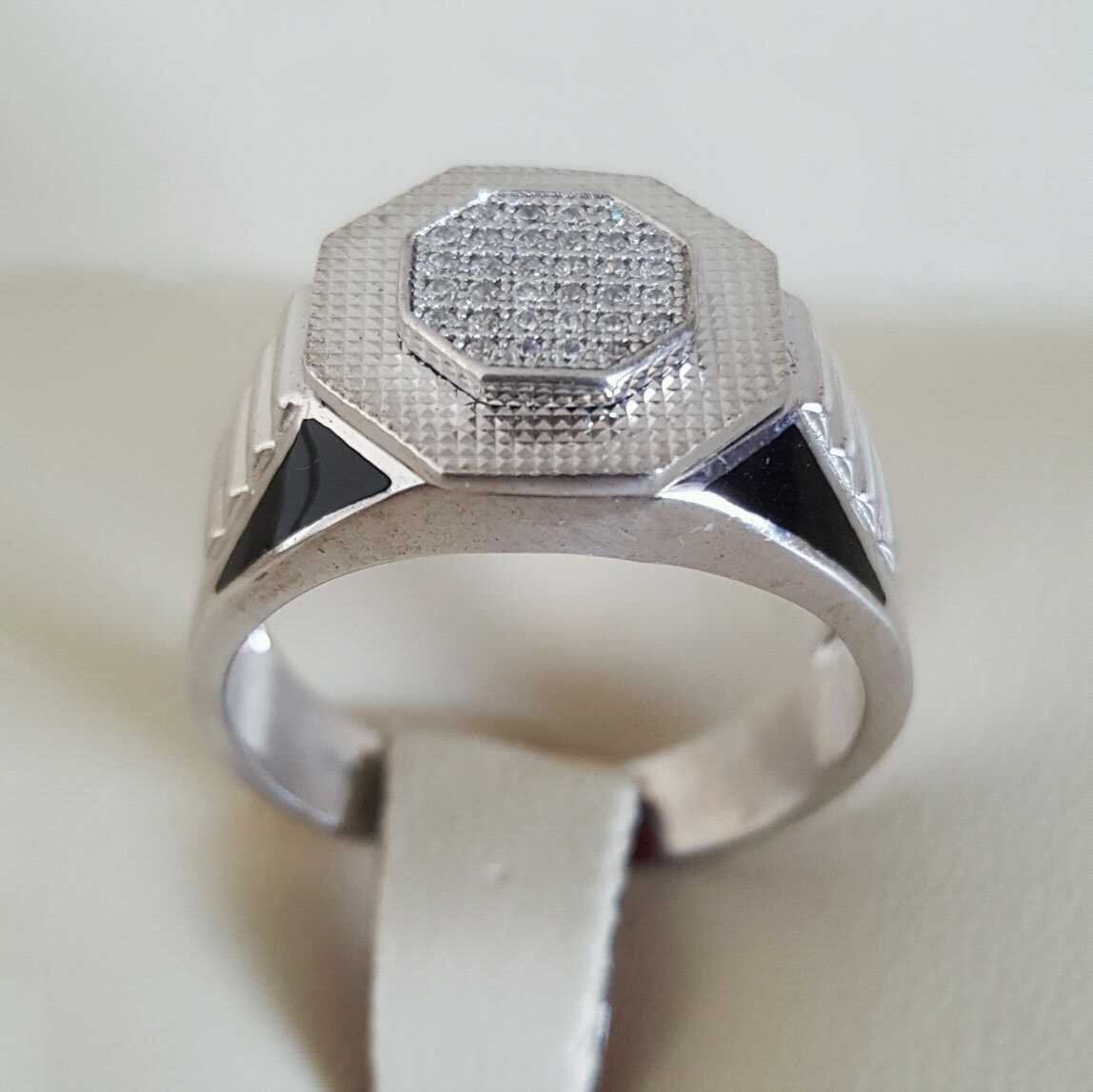 Pure Silver 925 Men Rings Italian Rings Imported From Dubai 8 natural gemstones pakistan + 925 silver jewelry online