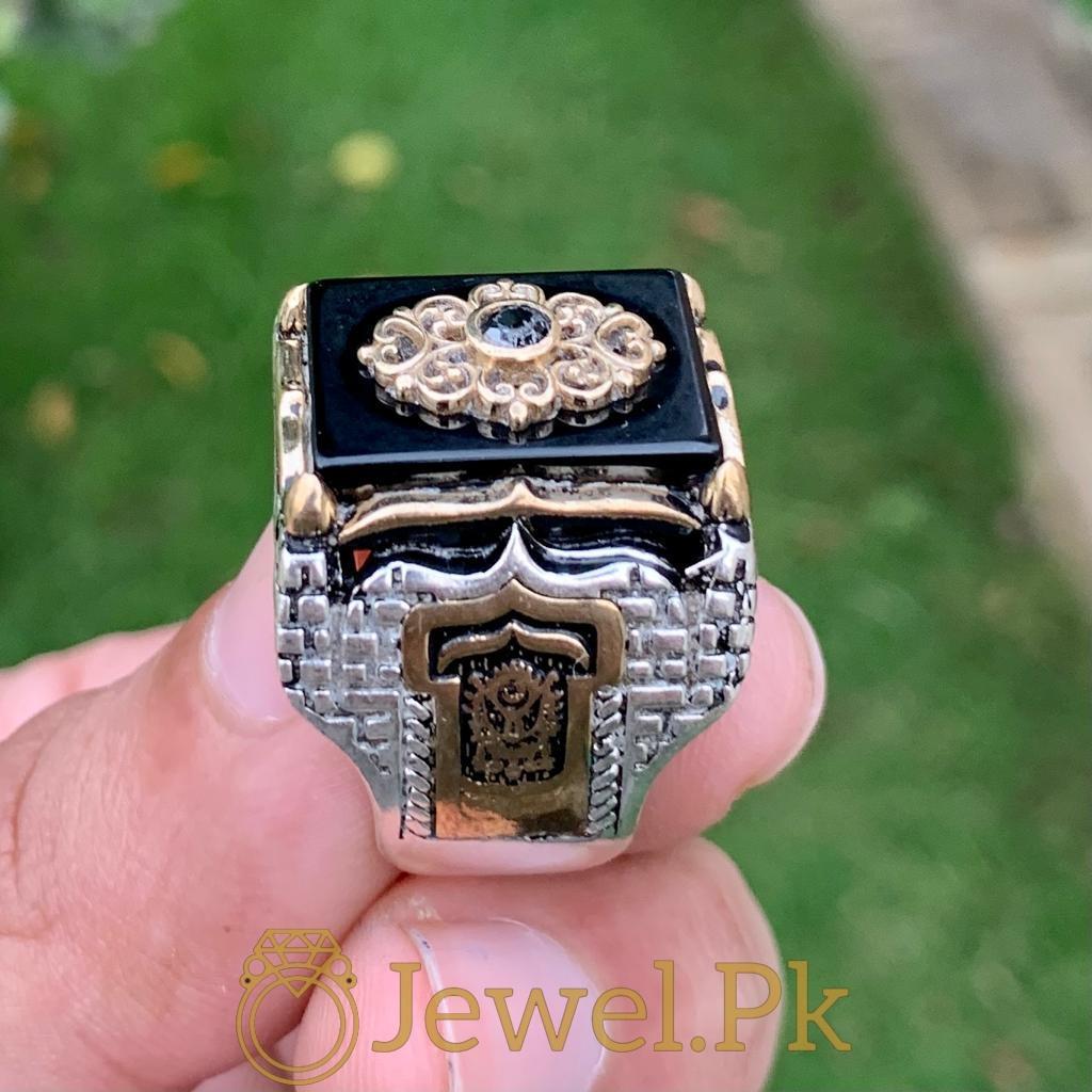 Turkish Rings Ottoman Ring Buy online Silver 925 Turkish Ring 18 natural gemstones pakistan + 925 silver jewelry online