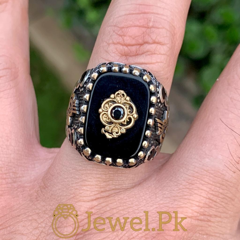Turkish Rings Ottoman Ring Buy online Silver 925 Turkish Ring 2 natural gemstones pakistan + 925 silver jewelry online