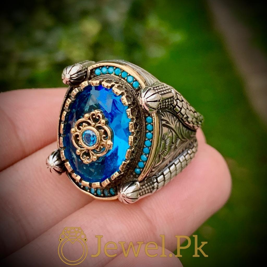 Turkish Rings Ottoman Ring Buy online Silver 925 Turkish Ring 21 natural gemstones pakistan + 925 silver jewelry online
