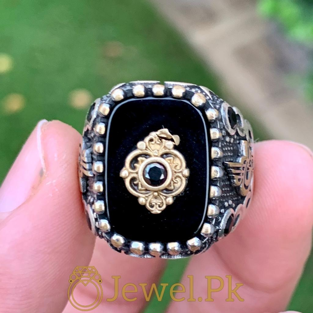 Turkish Rings Ottoman Ring Buy online Silver 925 Turkish Ring 3 natural gemstones pakistan + 925 silver jewelry online