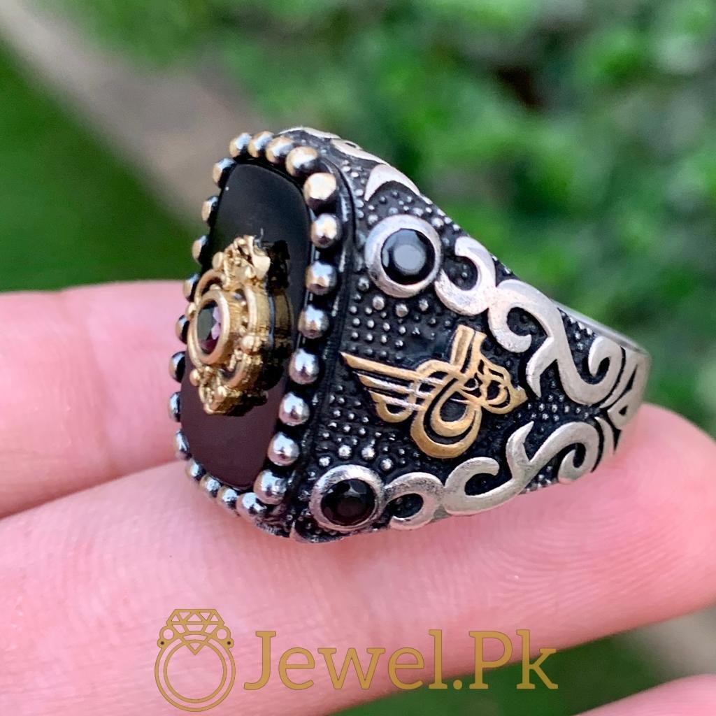 Turkish Rings Ottoman Ring Buy online Silver 925 Turkish Ring 4 natural gemstones pakistan + 925 silver jewelry online