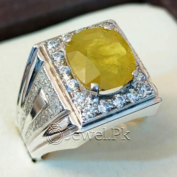 Beautiful Natural Yellow Sapphire Ring - Pukhraj Ring Handmade