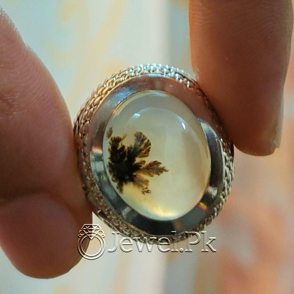 Natural Moss Agate Shajri Aqeeq Ring 925 Silver Chandi Ring Sajiri Aqiq 8 natural gemstones pakistan + 925 silver jewelry online