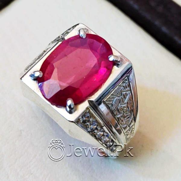 Natural Ruby YAqoot Ring Handmade