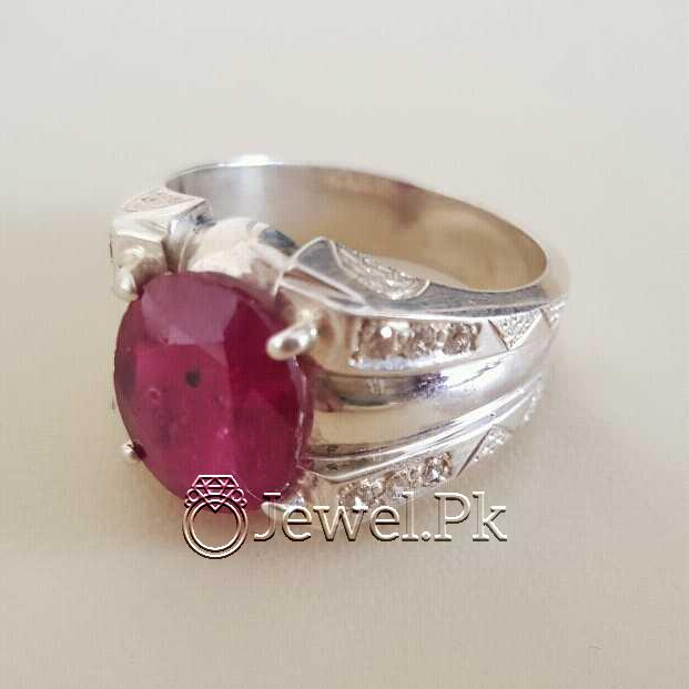 Real Silver 925 Chandi with Natural Ruby Yaqoot Stone 10 natural gemstones pakistan + 925 silver jewelry online