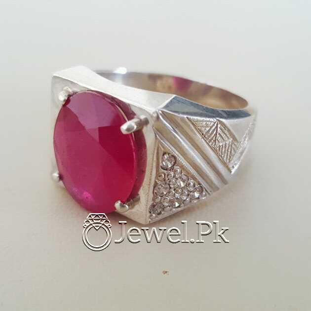 Real Silver 925 Chandi with Natural Ruby Yaqoot Stone 31 natural gemstones pakistan + 925 silver jewelry online