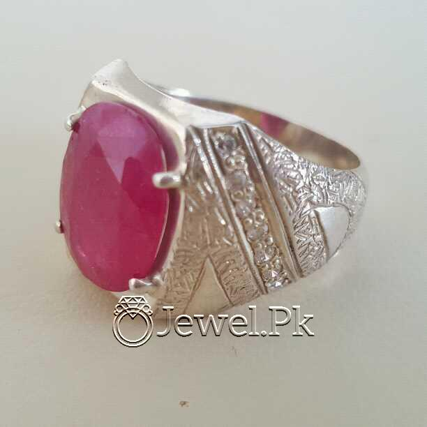 Real Silver 925 Chandi with Natural Ruby Yaqoot Stone 34 natural gemstones pakistan + 925 silver jewelry online