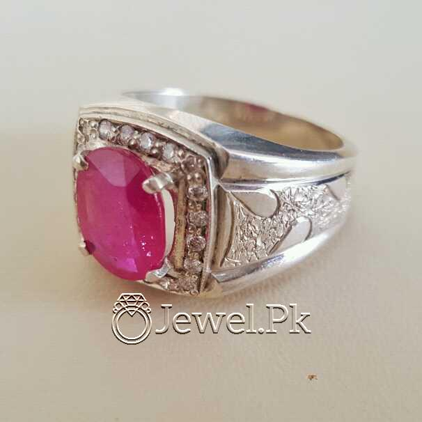 Real Silver 925 Chandi with Natural Ruby Yaqoot Stone 36 natural gemstones pakistan + 925 silver jewelry online