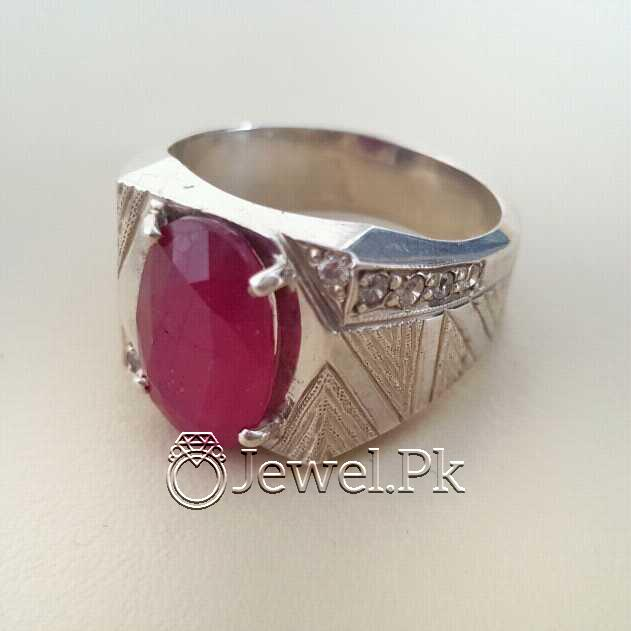 Real Silver 925 Chandi with Natural Ruby Yaqoot Stone 49 natural gemstones pakistan + 925 silver jewelry online