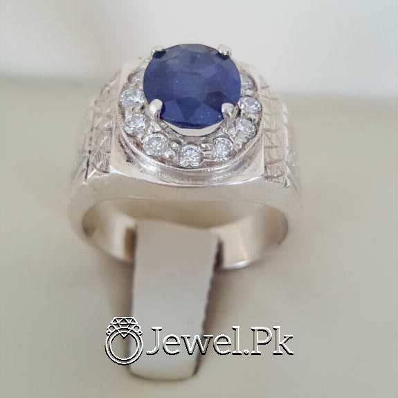 Real Silver 925 Chandi with Original Blue Sapphire Gemstone 12 natural gemstones pakistan + 925 silver jewelry online