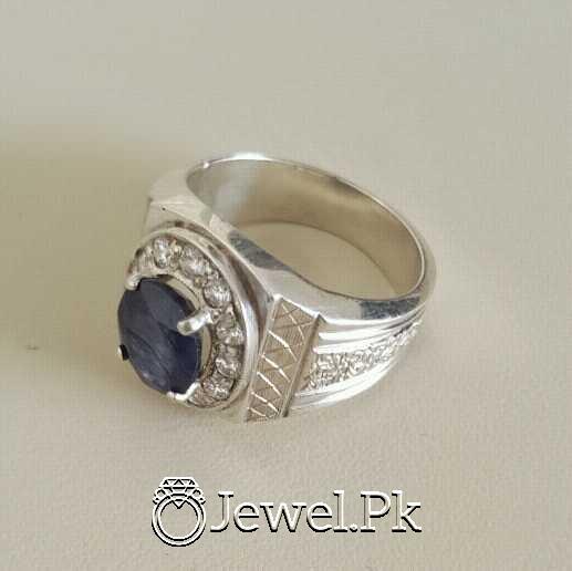 Real Silver 925 Chandi with Original Blue Sapphire Gemstone 13 natural gemstones pakistan + 925 silver jewelry online