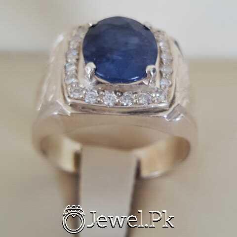 Real Silver 925 Chandi with Original Blue Sapphire Gemstone 14 natural gemstones pakistan + 925 silver jewelry online