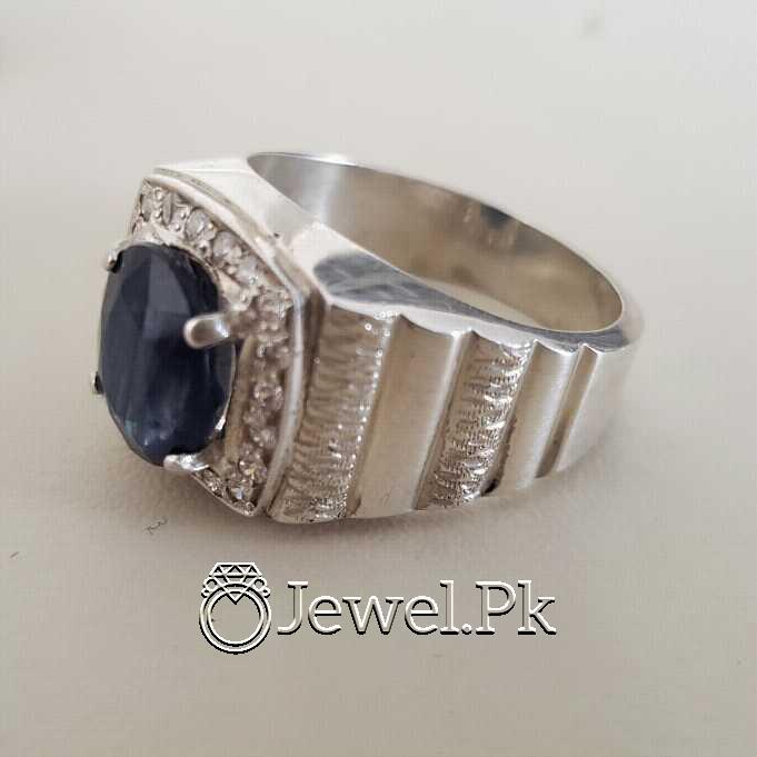 Real Silver 925 Chandi with Original Blue Sapphire Gemstone 9 natural gemstones pakistan + 925 silver jewelry online