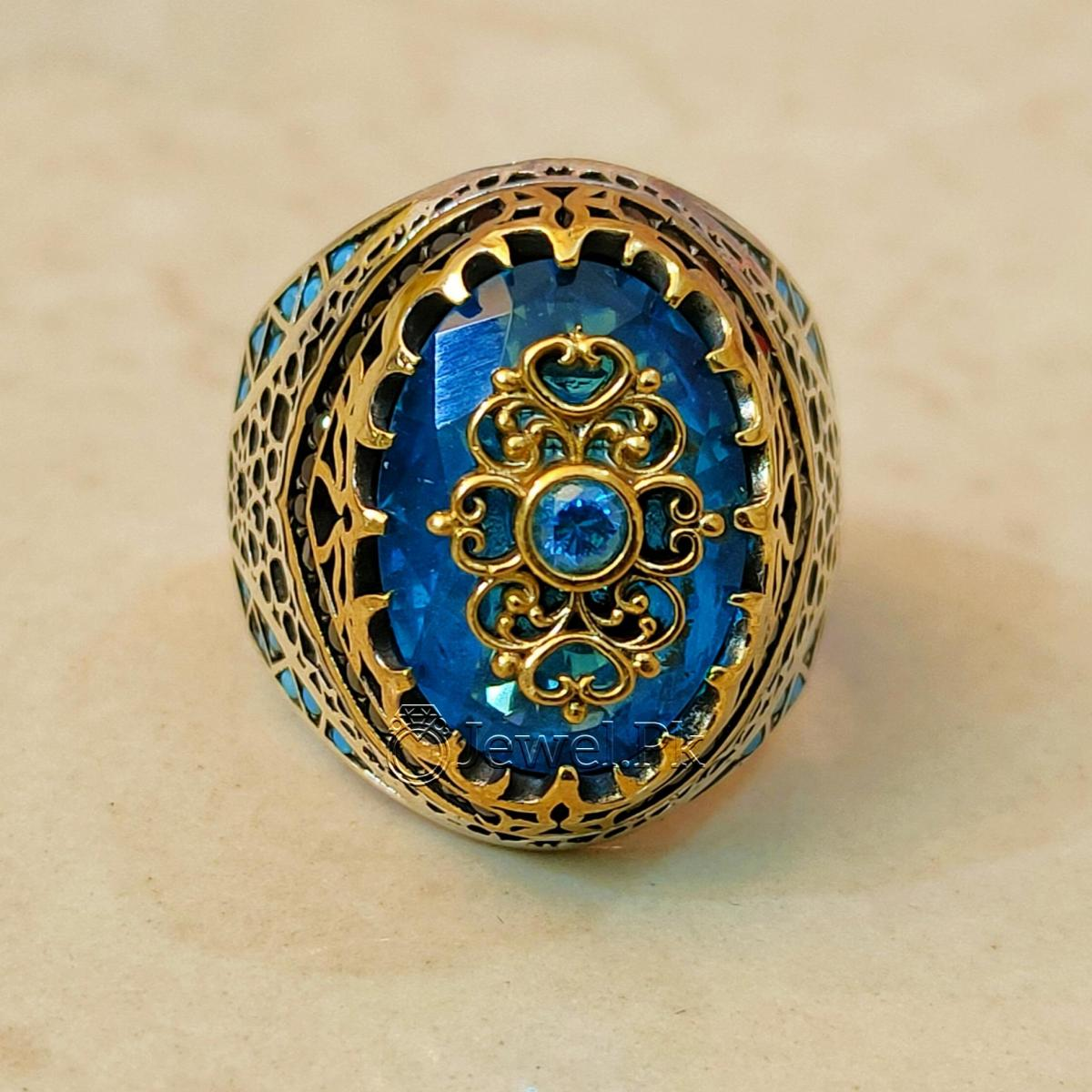 Turkish Rings 925 Silver Handmade Imported Ottoman Rings Pakistan 6 natural gemstones pakistan + 925 silver jewelry online