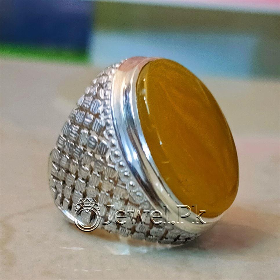 Zard Aqeeq Ring Yellow Agate