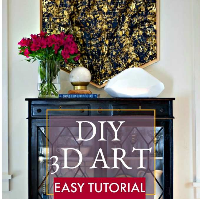 DIY 3-D ART | Step by Step Instructions| ORC WEEK 2 | Jeweled Interiors