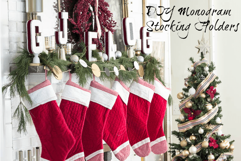 diy christmas stocking holders step by step tutorial