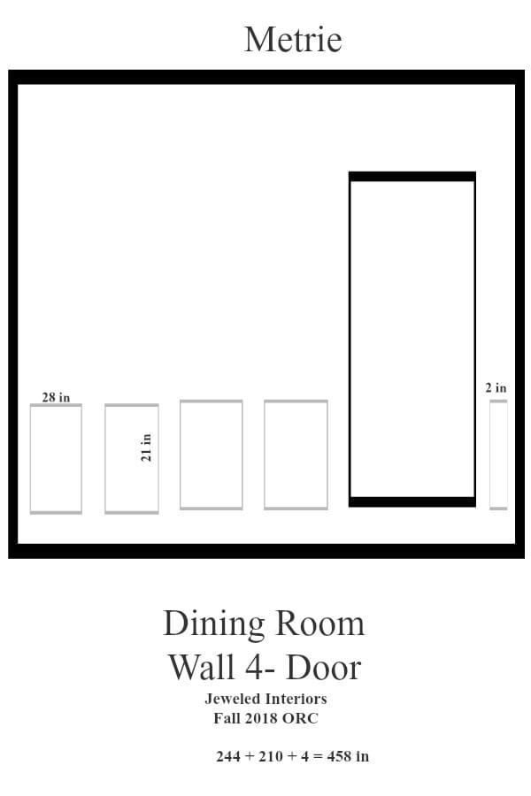 Jeweled Interiors Dining Room Wall 4