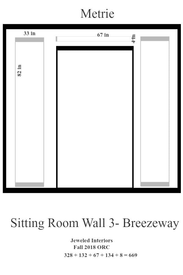 Living room Wall 3- Breezeway
