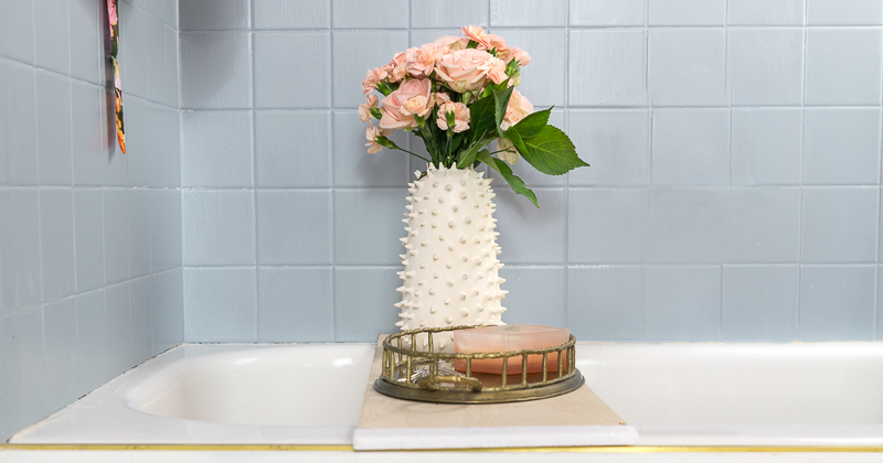bathroom tile paint tutorial and