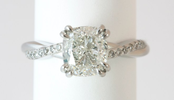 Classic Cushion Cut Diamond Engagement Ring