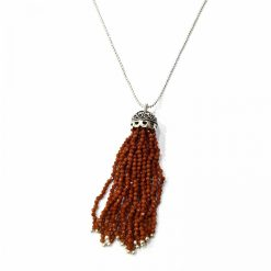 """Sterling Silver Brown Sunstone 36"""" Inch Tussle Necklace with Ball Chain and Sunstone Necklace Everyday Necklaces Girls Necklaces Women Necklaces Womens Jewellery Pack Of 1 Necklace Ideal for Women"""