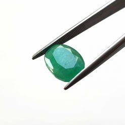 Natural Green Oval Faceted Cut 4.4 ct Zambia Emerald No Treatment July Birthstone Precious Stone with Dimensions 12x9x4.5 MM