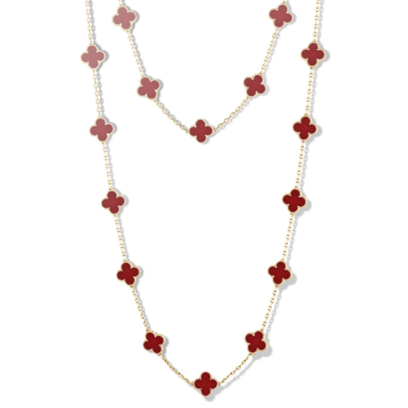 Vintage Alhambra Long Necklace 20 motifs