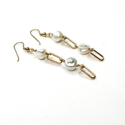 Glimt øreringe med perler lange