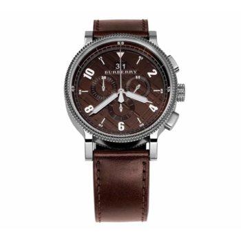 Burberry Silver Brown Strap Men's Watch – BU7684
