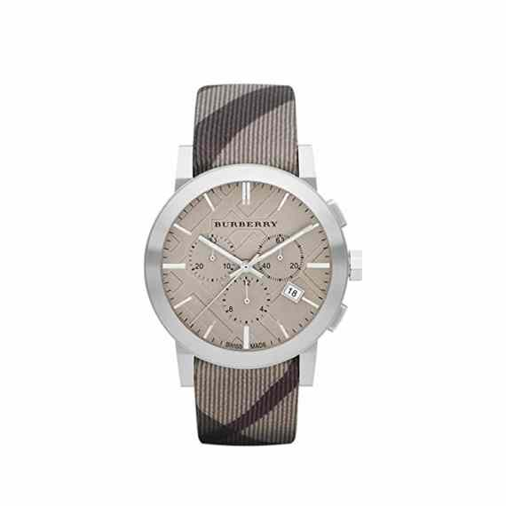 Bu9358 Burberry The City Brown Leather Chronograph