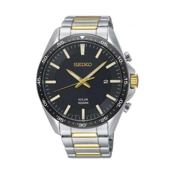Seiko Gold Dial Solar Men's Watch SNE485P1
