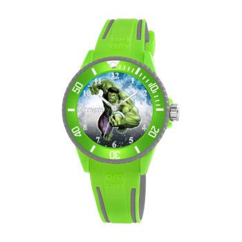 AM:PM Marvel Hulk Green Rubber Strap Kids' Watch MP187-U629