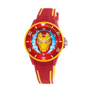 AM:PM Marvel Ironman Red Rubber Strap Kids' Watch MP187-U623