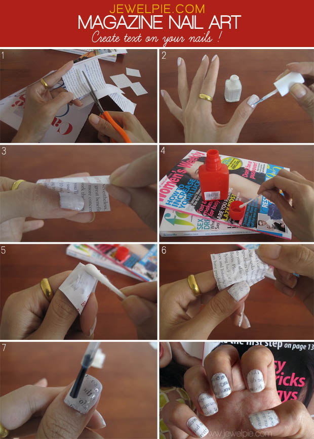 How To Make Newspaper Nails 9 Steps With Pictures Source Jewelpie