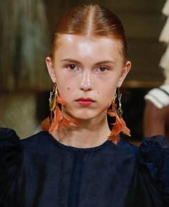 Runway Jewelry Trends Ulla Johnson Spring 2019, Feather Hoop Earrings