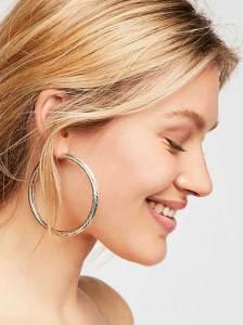 runway jewelry trends 2019, Scripted Hoop Earrings - Free People