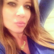 Karen Gravano of VH1's Mobwives wearing her custom MELANIE MARiE nameplate