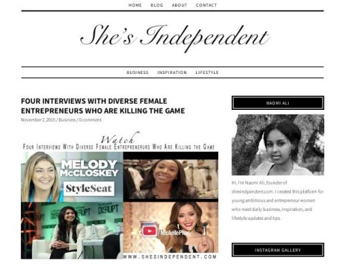 ShesIndependent.com featured MM in November 2015