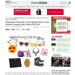 Globalgrind.com featured MELANIE MARiE in their December 2014 Gift Guide