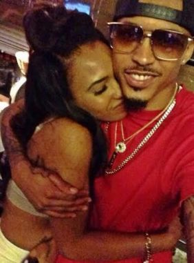 August Alsina wearing his MM Dog Tags