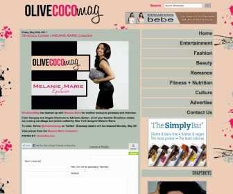 OlivecocoMag.com featured MM in May 2011