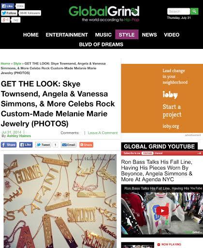 GlobalGrind.com featured MELANIE MARiE in July 2014