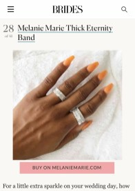 Melanie Marie featured on BRIDES in May 2021