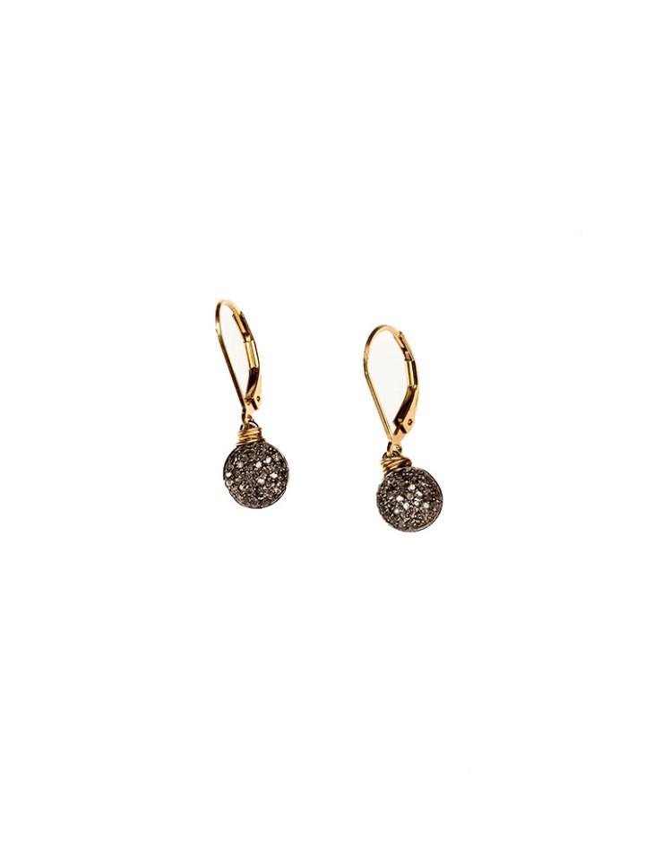 diamond round drop earrings