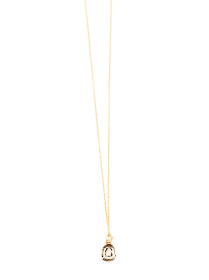 rose cut diamond bell deli necklace
