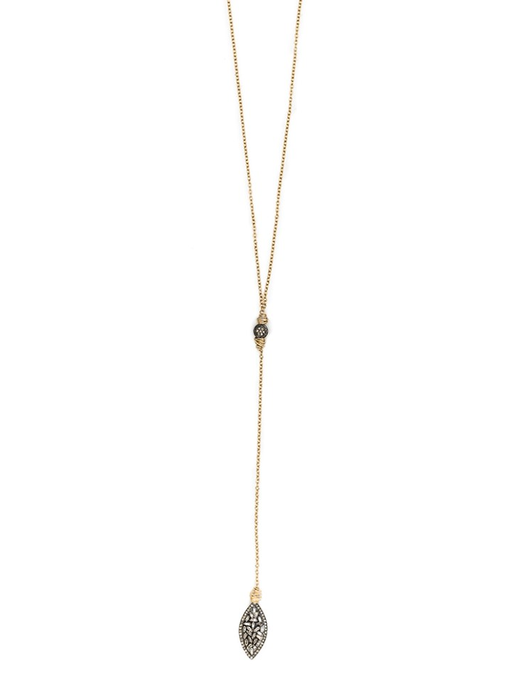baguette marquise y necklace