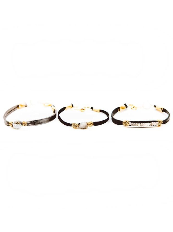 silverite leather wrapped bracelet